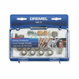 Dremel® Sanding/Grinding Accessory Kit, 31-Piece Mini, 0.05 in Kerf, 0.05 in THK Blade, 35000 rpm, 60, 120, 180, 220 Grit