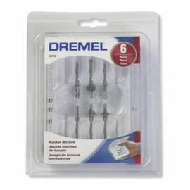 Dremel® Router Bit Set, 6 Pieces, HSS Material
