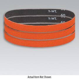 Dynabrade® Sanding Belt, 24 in Belt Length, 1 in Belt Width, 80 Grit, Medium Grade, Ceramic Abrasive, Cloth Backing