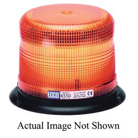 Ecco® 6550B 6500 360 Deg Low Profile Strobe Beacon, Blue, 3-Bolt/Flange/Surface Mount, 12 To 48 VDC/30 W, 2.4 A