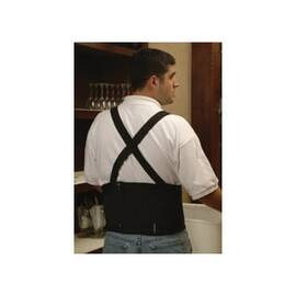 Erb® 12302 Samson Back Support With Suspender, L, Fits Waist Size 38 To 42 In, Black, Nylon