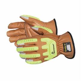 ENDURA® 378CKGVBL CUT RESISTANT GLOVES WITH OILBLOC™, L, COWHIDE LEATHER, KNIT WRIST CUFF, RESISTS: CUT AND IMPACT, ANSI CUT-RESISTANCE LEVEL: A4