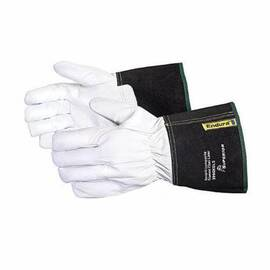 ENDURA® 399GKGL5L DRIVER CUT RESISTANT GLOVES, L, GOATSKIN GRAIN LEATHER, GAUNTLET/KNIT WRIST CUFF, RESISTS: ABRASION, CUT AND PUNCTURE, ANSI CUT-RESISTANCE LEVEL: A4, ANSI PUNCTURE-RESISTANCE LEVEL: 4