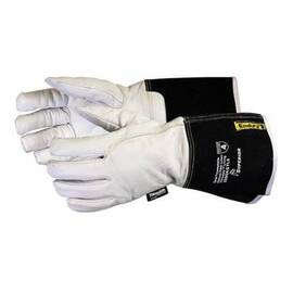 ENDURA® 399GKGTL5M WINTER DRIVER CUT RESISTANT GLOVES, M, GOATSKIN GRAIN LEATHER, GAUNTLET/KNIT WRIST CUFF, RESISTS: ABRASION, CUT AND PUNCTURE, ANSI CUT-RESISTANCE LEVEL: A4, ANSI PUNCTURE-RESISTANCE LEVEL: 5