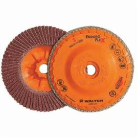 Enduro-Flex™ 06-B 456 Spin-On Coated Flap Disc, 4-1/2 In Dia, 5/8-11, 60/Coarse, Zirconia Alumina Abrasive, Type 27S