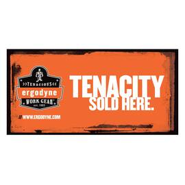 Ergodyne® Merchandising Banner, Horizontal Small, TENACITY SOLD HERE Legend, 24 in Height, 48 in Width