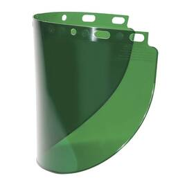 Fibre-Metal® By Honeywell 4178Dgn Wide Vision Faceshield Window, 8 In H X 16-1/2 In W, Propionate, Dark Green