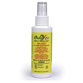 First Aid Only® BugX®30 Insect Repellent Spray, DEET, Pump Spray Bottle, 4 oz, Composition: Water, N,N-Diethyl-m-toluamide (DEET), Ethanol, Liquid, White, 1 Specific Gravity, >201 deg F Flash, 5 to 7.5 pH