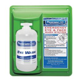 FIRST AID ONLY® 90501-001 SINGLE BOTTLE EYEWASH STATION, WALL MOUNTING