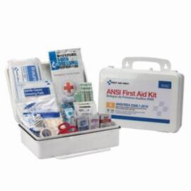 First Aid Only® 90562C Type III Bulk Class A Portable First Aid Kit, Wall Mount, Weather Proof Plastic Case, 25 People Served