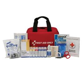 FIRST AID ONLY® 90594 PORTABLE FIRST AID KIT, WALL MOUNTING, 102 COMPONENTS, SOFT NYLON FABRIC CASE