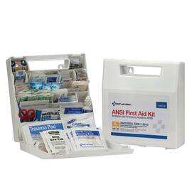 FIRST AID ONLY® 90639 PORTABLE FIRST AID KIT, WALL MOUNTING, 183 COMPONENTS, PLASTIC CASE