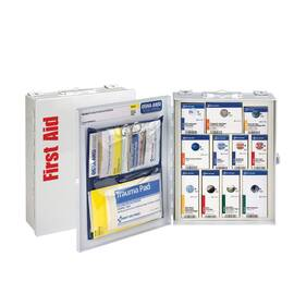 FIRST AID ONLY® 90658 SMARTCOMPLIANCE® MEDIUM FIRST AID CABINET, WALL MOUNTING, 94 COMPONENTS, METAL CASE