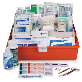 FIRST AID ONLY® FA-504 LARGE FIRST RESPONDER FIRST AID KIT, 269 COMPONENTS, PLASTIC CASE