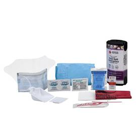 AMERICAN RED CROSS RC-657 FLUID SPILL EMERGENCY RESPONDER PACK, FLUIDS ABSORBED: BLOOD AND BODILY FLUIDS