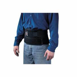 FLEXBAK® 7115-04 WITH SUSPENDERS, XL, 58 TO 68 IN FITS WAIST, 9 IN W, NYLON, BLACK, HOOK AND LOOP CLOSURE
