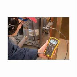 Fluke® Digital Multimeter, 600 VAC/VDC, 600 uA, 5 Hz to 50 kHz, 0.1 Ohm to 40 MOhm, Safety Rating: CAT III 600 VAC/VDC, 1000 uF, 0.5% + 2 VAC Accuracy, 0.1 mVAC/VDC Resolution, Digital, 9 VDC Alkaline NEDA 1604A/IEC 6LR61 Battery, No, Yes, 1.81 in L x 3.