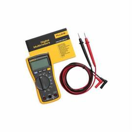 Fluke® Digital Multimeter, 600 VDC/VAC, 10 A, 40 MOhm, 600 VAC/VDC, 10 A, 5 Hz to 50 kHz, 0.1 Ohm to 40 MOhm, Safety Rating: CAT III 600 VAC/VDC, 1000 uF, 0.5% + 2 VAC Accuracy, Digital, 9 VDC Alkaline NEDA 1604A/IEC 6LR61 Battery, No, Yes, 1.81 in L x 3