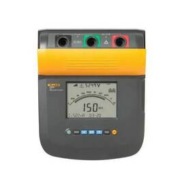 Fluke® Insulation Tester, 250/500/1000/2500/5000/10000 VAC, 250 kOhm to 2 TOhm, 10% Accuracy, Digital LCD/Analog Display, Safety Rating: CAT IV 600 V, CAT III 1000 V, 12 VDC Lead Acid Rechargeable Battery, IP40, 10.6 in H x 10.9 in W x 6.3 in D