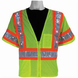 Glo Led Vest Class 3 Hi Viz Green Global Glove