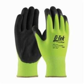 PIP® G-Tek® 16-340 Cut-Resistant Glove, Polykor™, ANSI/ISEA Cut Level: A3, Abrasion/Chemical/Cut/Puncture/Tear/UV/Water Resistant, 9.3 in Length, Black/Hi-Viz Lime Green