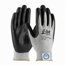 PIP® G-Tek® 19-D334 3GX™ Cut-Resistance Glove, ANSI/ISEA Cut Level: A3, Abrasion/Chemical/Cut/Puncture/Tear/UV/Water Resistant, 9.8 in Length, Black/Salt/Pepper