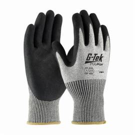 PIP® G-Tek® 16-350 Cut-Resistant Glove, Polykor™ Fiber, ANSI/ISEA Cut Level: A4, Abrasion/Chemical/Cut/Puncture/Tear/UV/Water Resistant, 10 in Length, Black/Salt/Pepper