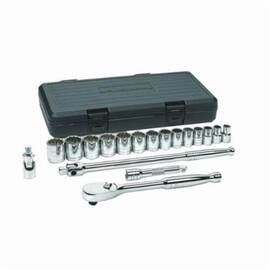 GearWrench® 80716 Socket Set, Imperial, 12 Points, 1/2 In, 18 Pieces, Storage Case Container