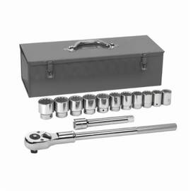 GearWrench® 80879 Socket Set, Imperial, 12 Points, 3/4 In, 13 Pieces, Metal Storage Box Container