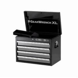 GearWrench® GET IT DONE™ Tool Chest, Heavy Duty, Series: XL Series, 26 in Width, 16 in Depth, 19 in Height, 20 ga Chest Body, 22 ga Drawer Thickness, (4) 2-3/4 in H x 25-3/4 in W x 17-1/2 in D, (1) 1-3/4 in H x 17 in W x 6-3/4 in D Top Tray Drawer, 4 D