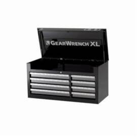 GearWrench® GET IT DONE™ Tool Chest, Heavy Duty, Series: XL Series, 41 in Width, 18-1/4 in Depth, 20-1/2 in Height, 20 ga Chest Body, 22 ga Drawer Thickness, (4) 2-1/4 in H x 22-1/2 in W x 15-1/2 in D Left, (4) 2-1/4 in H x 12 in W x 15-1/2 in D Right