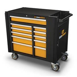 GearWrench® Mobile Work Station, 25.4 in Overall Length, 42-1/2 in Overall Width, 41 in Overall Height, 2000 lb Load, 11 Drawers, (1) 4.29 in H x 28.62 in W x 20.91 in D, (3) 3.03 in H x 17.64 in W x 21.38 in D, (1) 4.65 in H x 17.64 in W x 21.38 in D, (