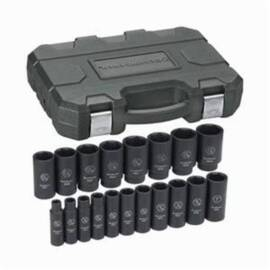 GearWrench® Get It Done™ 84934N Impact Socket Set, Imperial, 6 Points, 1/2 In, 19 Pieces, Blow Molded Case Container