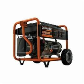 Generac® 5946 GP6500 Portable Generator, 120/240 VAC, 54.2 A, 8125 W Starting/6500 W Running, OHV Engine, 3600 RPM