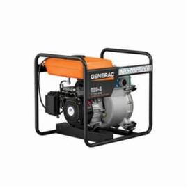 Generac® Trash Water Pump, 185 gpm, 2 in NPT Inlet, 2 in NPT Outlet, 98 ft Maximum Head, 26 ft Maximum Suction Lift, Aluminum, 26.6 in L x 19.9 in W x 22.8 in H, Import