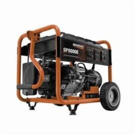 Generac® 6954 GP8000E Portable Generator, 120/240 VAC, 66.6 A, 10000 W Starting/8000 W Running Power Rating, OHV Engine, 3600 RPM Speed