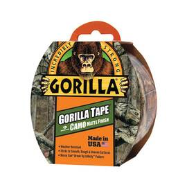 Gorilla® 6010902 Tape, 1.88 In W X 9 Yd L, Camo
