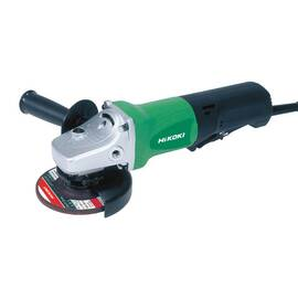 HITACHI Disc Grinder, Tool/Kit: Bare Tool, 4-1/2 in Wheel Dia, M14x2, 11000 rpm, 120 VAC/VDC, 9.5 A, Metal/Plastic Housing, Side, Black/Gray/Green, Corded Cord, Lock-On Switch Control, Paddle Switch, 12-5/8 in OAL