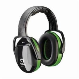 HELLBERG® 263-41001 SECURE™ 1 PASSIVE EARMUFFS WITH ADJUSTABLE HEADBAND, 23 DB NOISE REDUCTION, BLACK/GREEN, SPECIFICATIONS MET: ANSI S3.19-1974, CE CERTIFIED