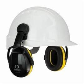 HELLBERG® 263-42002 SECURE™ 2 CAP MOUNT PASSIVE EARMUFFS, 24 DB NOISE REDUCTION, BLACK/YELLOW, SPECIFICATIONS MET: ANSI S3.19-1974, CE CERTIFIED