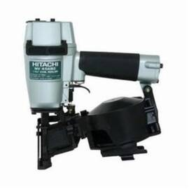 HITACHI Roofing Nailer, Bare Tool Tool/Kit, 1-1/4 to 2 in Fastener, Coil/Wire Collation, 16 deg Collation, 120 Nails Magazine, Top Loading, Contact/Sequential Actuation Trigger, Shingle Guide, 2.5 cfm, 70 to 100 psi Air, 3/8 in Air Inlet, Adjustable Exhau
