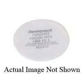 Honeywell 7506R95 N Series Pad Filter, For Use With Full Or Half Mask Respirators, White