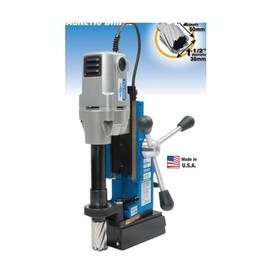 Hougen® Magnetic Drill, Portable, Series: HMD904, 7/16 to 1-1/2 in Chuck, 6-9/16 in L x 3-1/8 in W Drill to Center From Base, 19-5/8 in Overall Height, 115 VAC, 9 A, 11-5/8 in L x 7-3/4 in W