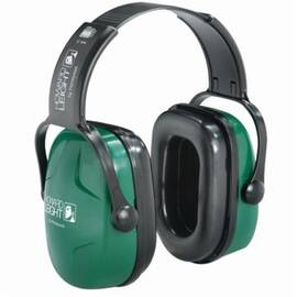 Howard Leight By Honeywell 1010929 Thunder T2 Dielectric Ear Muffs, 28 Db Noise Reduction, Green, Over-The-Head Band Position, Plastic Cup/Plastic Headband