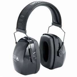 Howard Leight By Honeywell 1011994 Leightning® L1N Ear Muffs, 25 Db Noise Reduction, Black/Gray, Behind-The-Neck Band Position, Wire Headband