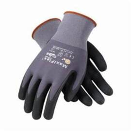 PIP® Maxiflex® 34-874 Ultimate Breathable Palm & Finger Coated Glove, Nylon Palm, Abrasion/Cut/Puncture/Tear Resistant, 8-1/2 in Length, Black/Brown/Gray