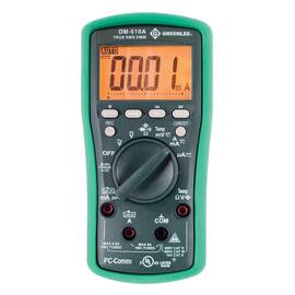 Greenlee® ESM Digital Multimeter, 60 to 600 mV, 600 to 6000 uA, 10 Hz to 50 kHz/5 Hz to 999.9 kHz, 600 Ohm, 60 to 600 nF, 6000 Count Backlit LCD Display, AAA Battery, -58 to 1832 deg F