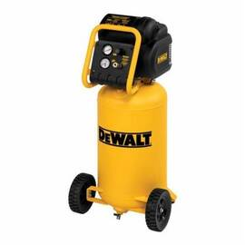 DeWalt® D55168 Continuous High Pressure Low Noise Oil Free Vertical Portable Electric Air Compressor, 5 CFM, 1.9 Hp, 200 Psi, Vertical 15 Gal Tank