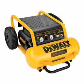 DeWalt® D55146 Continuous High Pressure Low Noise Oil Free Portable Electric Air Compressor, 6.5 CFM, 1.6 Hp, 200 Psi, Hot Dog 4.5 Gal Tank