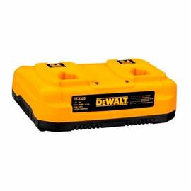 DeWalt® Dc9320 Dual Port Heavy Duty Cordless Battery Charger, For Use With DeWalt® 7.2 To 18 V Nicd And Lithium-Ion Battery, Lithium-Ion/Nicd/Nimh Battery, 1 Hr Charging, 2 Batteries